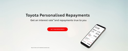 Toyota Personalised Repayments Page 2000x800
